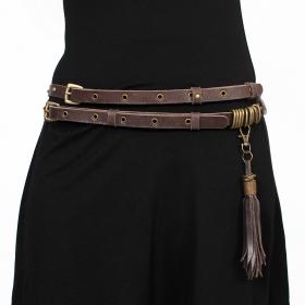 "\""Ravish\"" belt, Brown leather"