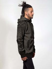 "\""Razer\"" zipped hoodie, Brown"