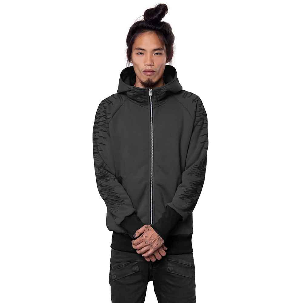"\""Razer\"" zipped hoodie, Dark grey"