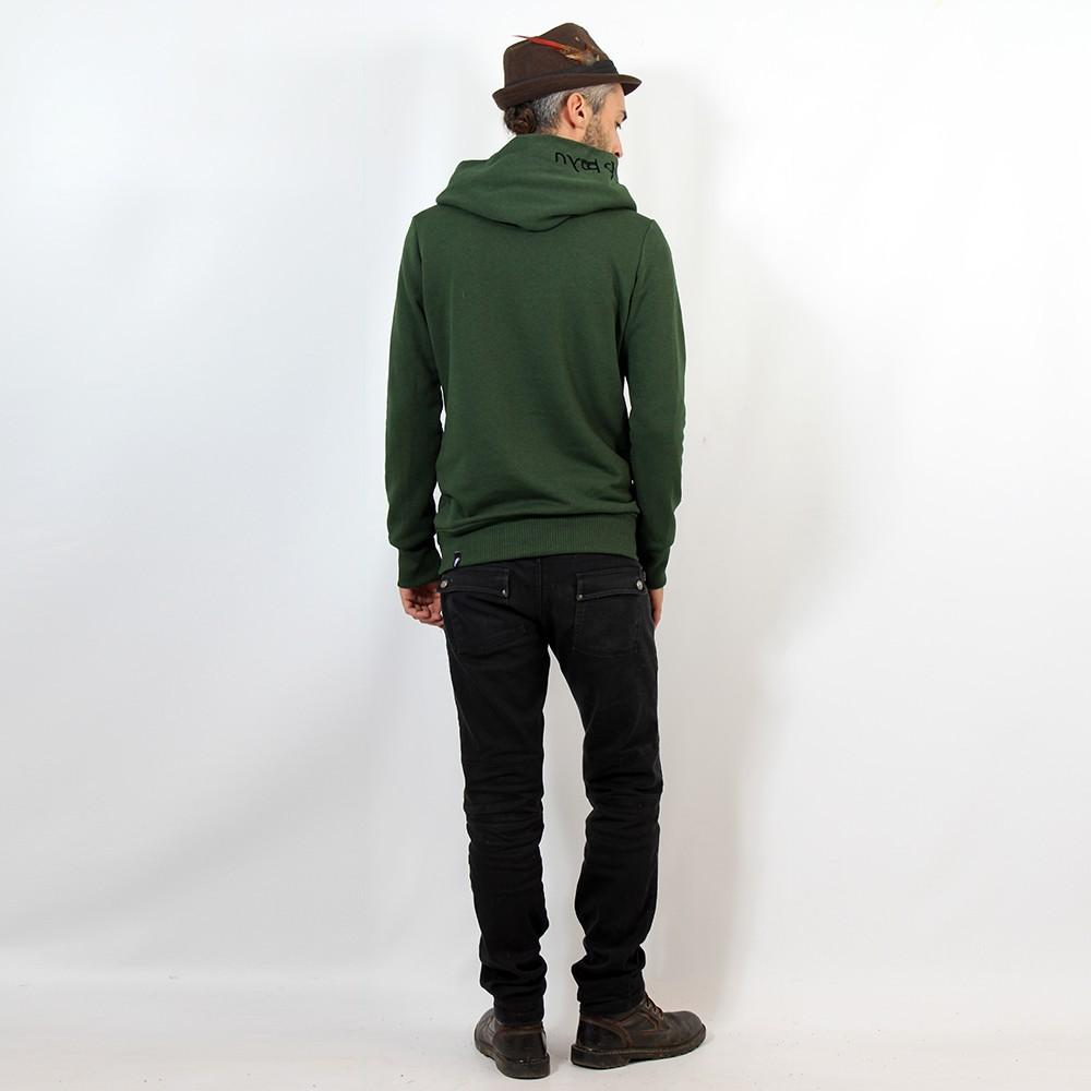 "\""Reaper\"" hoodie, Mottled khaki green"
