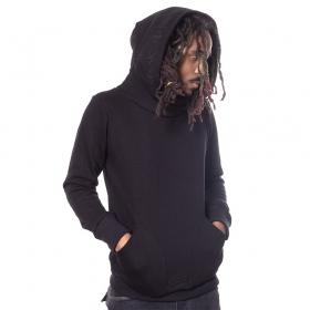 "\""Reaper\"" hoodie, Wine and black stripes"
