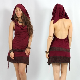 """Rijeya\"" tunic, Plum brown lace"