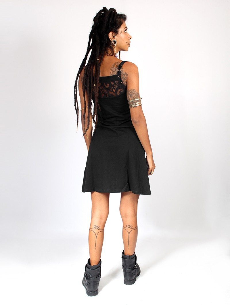 "\""Ring\"" dress, Black"