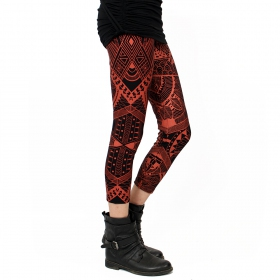"""Rinji Africa\"" leggings, Black and copper"
