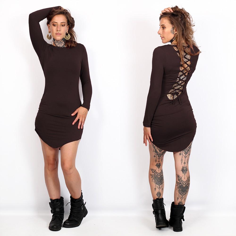 "\""Ritaa\"" dress, Brown"