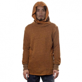 """Robin\"" Hooded pullover, Brownish mustard"