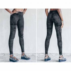 "\""Roots\"" long leggings, Printed grey"