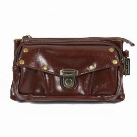 "\""Saagar\\\"" 2in1 purse/waist bag, Chocolate"