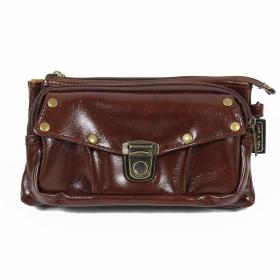 "\\\""Saagar\\\"" 2in1 purse/waist bag, Chocolate"