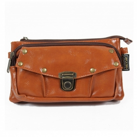 """Saagar\"" 2in1 purse/waist bag, Light Brown"