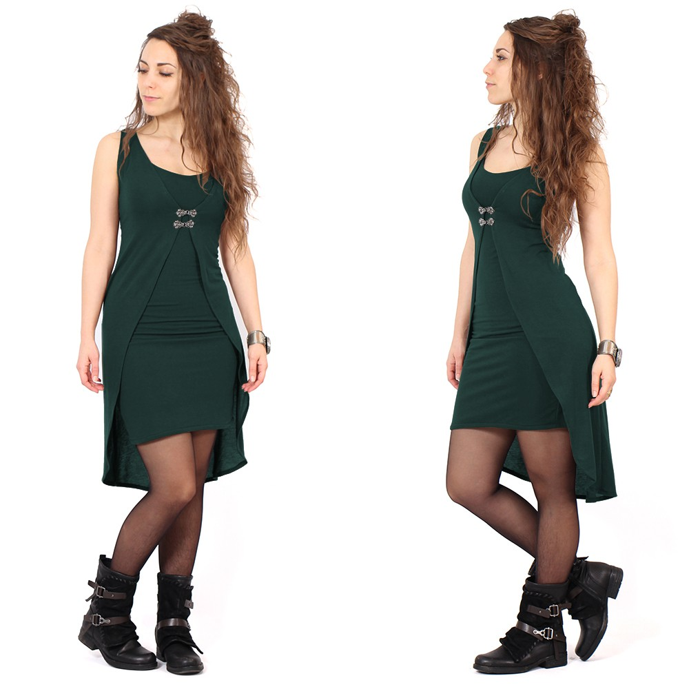 "\""Sabbäa\"" short dress, Dark teal"