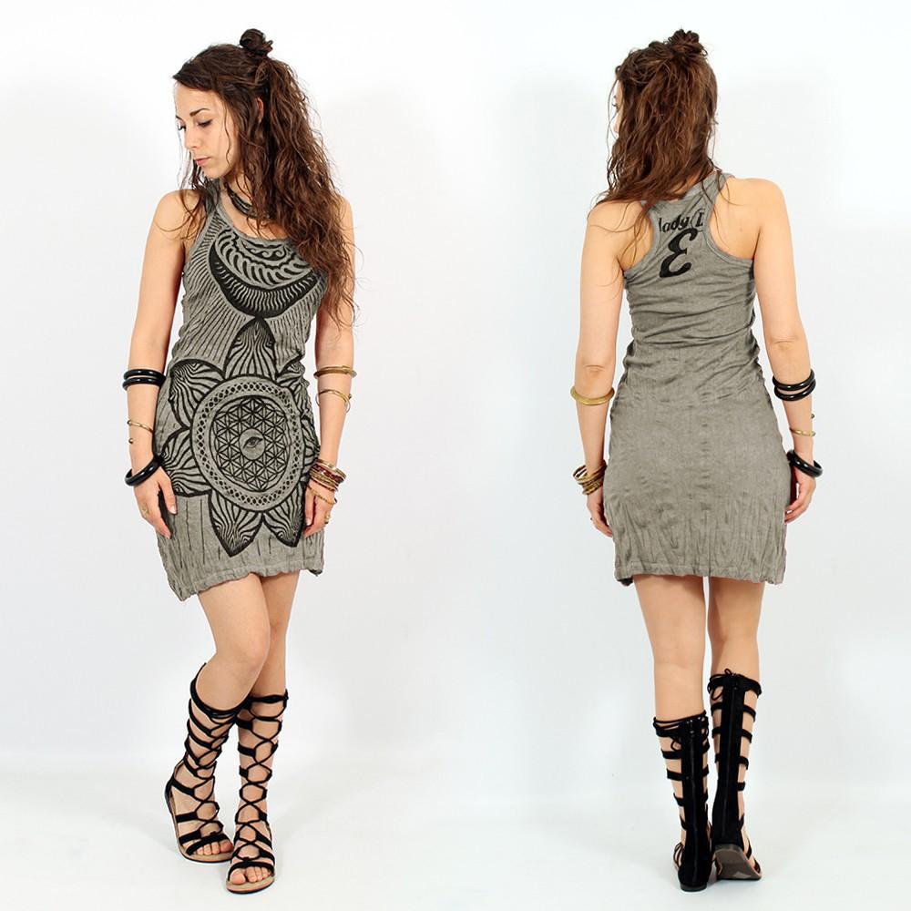 "\""Sacred Geometry\"" dress, Grey beige"