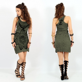 """Sacred Geometry\"" dress, Khaki"