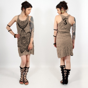 "\""Sacred Geometry\\\"" dress, Light brown"