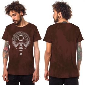 """Saday\"" t-shirt, Mottled wine"