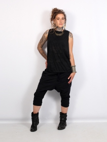 """Safar\"" unisex 3/4 Harem pants, Black"