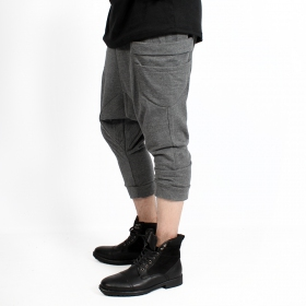 """Safar\"" unisex 3/4 Harem pants, Mottled grey"