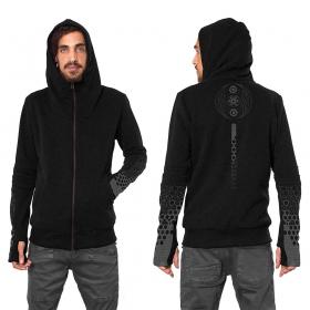 "\""Saito\"" zipped hoodie, Black"