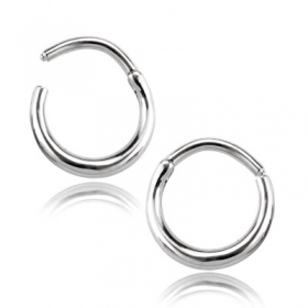 """Saliz\"" steel nose ring"