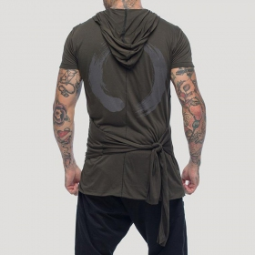 "\""Samuraï\"" hooded t-shirt, Khaki green"