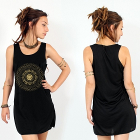 """Sapana\"" dress, Black and Gold"