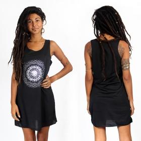 "\""Sapana\"" dress, Black and Silver"