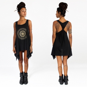 ""\""""Sapana"""" knotted tunic, Black and gold""280|280|?|en|2|4488cace4800be763e9be0f4a8e737bf|False|UNLIKELY|0.28923043608665466