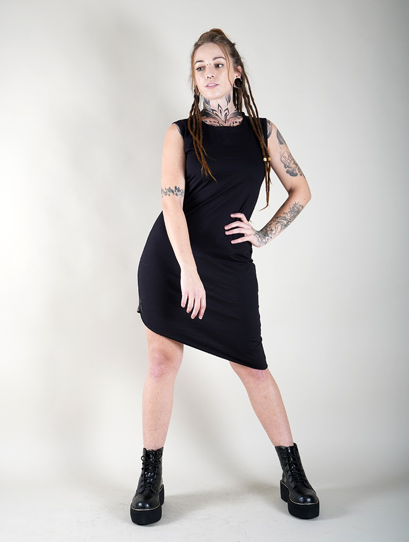 """Sarasvati\"" sleeveless dress, Black"