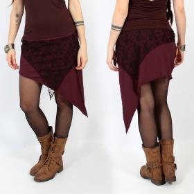 "\""Saravana\"" skirt, Wine and brown"
