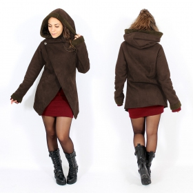 "\""Sardee\\\"" Coat, Brown"