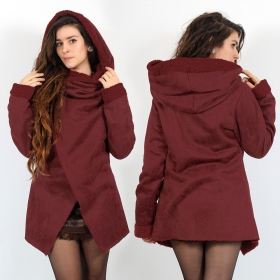 """Sardee\"" Coat, Wine"