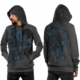 "\""Sarmata\"" hoodie, Mottled grey"