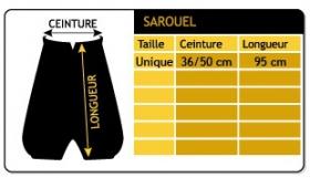 """Sarouel \\\""""anju\\\"""", dark grey one size"""