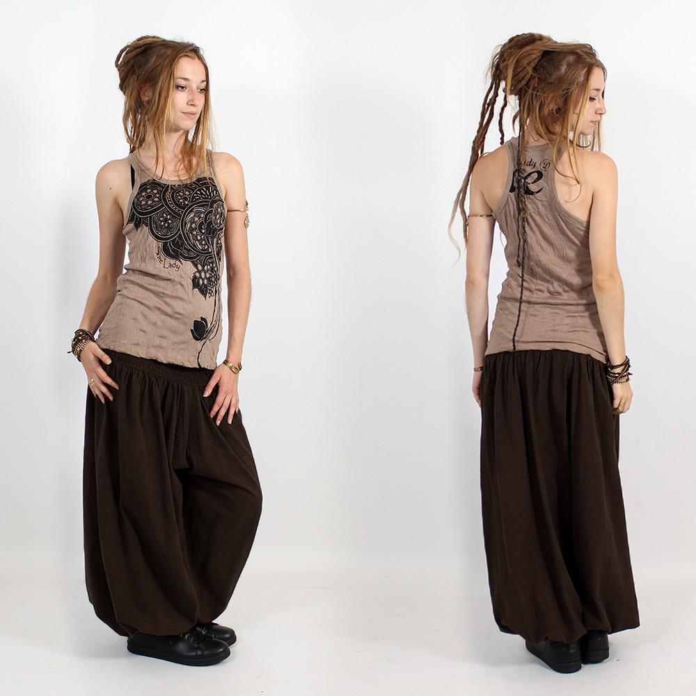 """Sarouel \""""Layto\"""", Dark brown"""