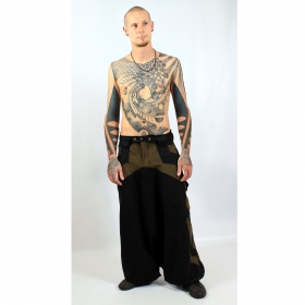 "Sarouel high clothing \\\""fakir\\\"", black-kaki"