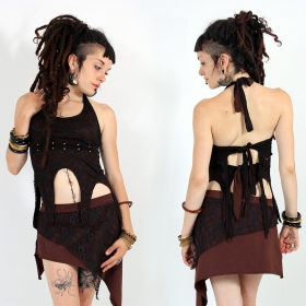 """Sawatdi\"" top, Brown"