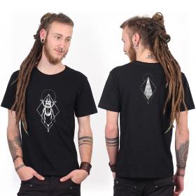 "\""Scarab spirit\"" t-shirt, Black and silver"