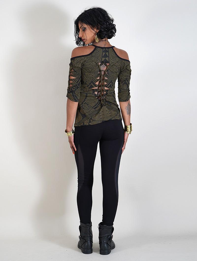 "\""Sedna Africa\"" top, Khaki green"
