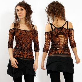 """Sedna Aztek\"" Gadogado top, Golden brown"