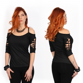 """Sedna Swastika\"" top, Black"