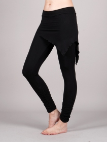 """Seiji\"" skirted leggings, Black"