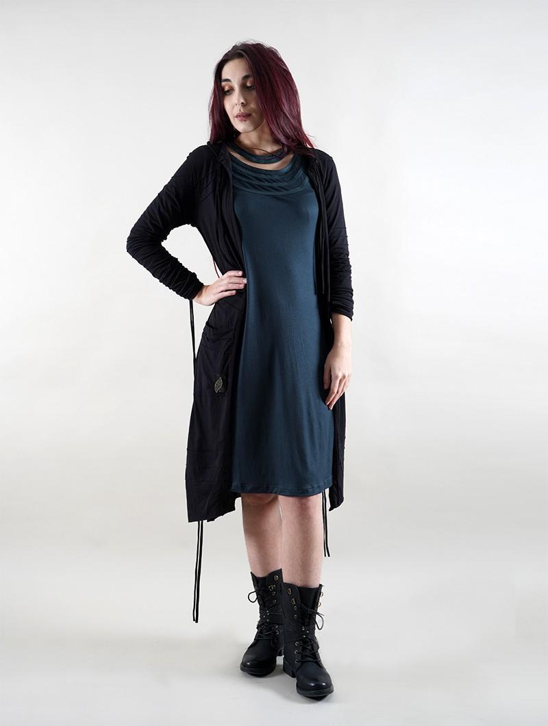 "\""Selne\"" long sleeve hooded jacket, Black"