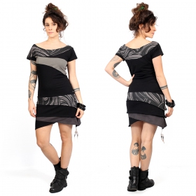 """Sensa\"" dress, Black and grey"