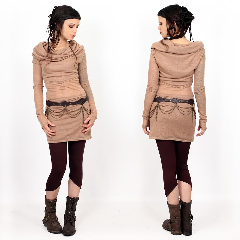 "\""Shakti\"" belt, Brown leather"