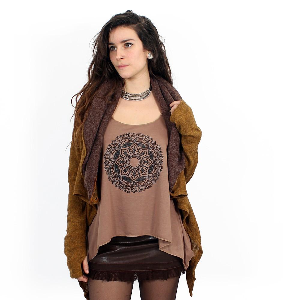 "Shawl Witch \""Adrika\"", Rusty brown"