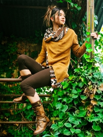 "\""Shayäa\"" leggings, Brown"