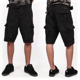 "\""Shell Valley\"" cargo combat shorts, Black"