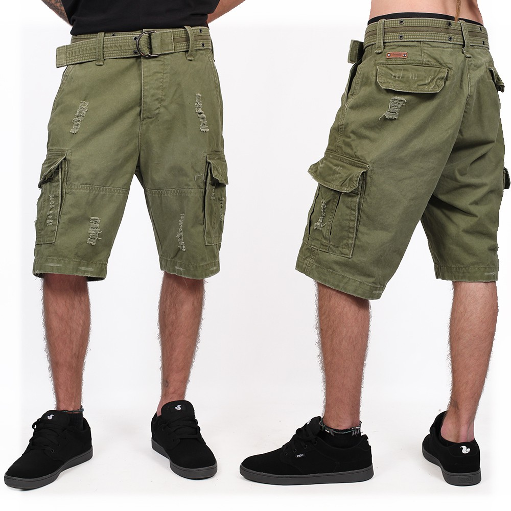 """Shell Valley\"" cargo combat shorts, Khaki green"
