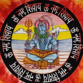 "\""Shiva\"" hanging, Orange"