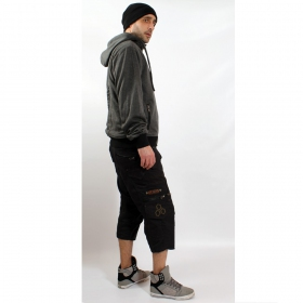 "Short 3/4 indian project \""dealer\\\"", black"
